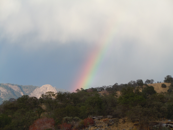 Rainbow with Moro Rock © Elsah Cort